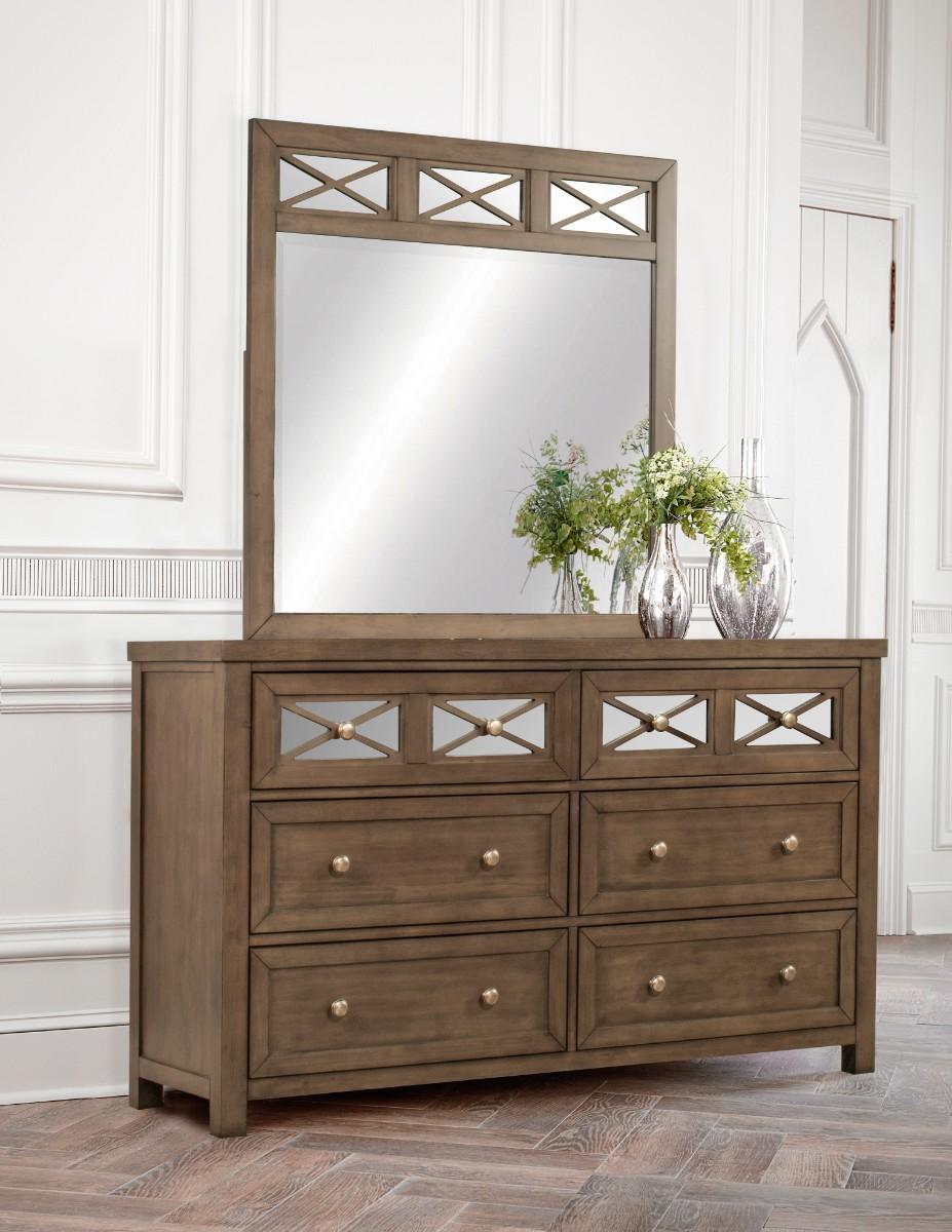 Hillsdale Randall Dresser Mirror Amazing Gray Finish Hillsdale Dm