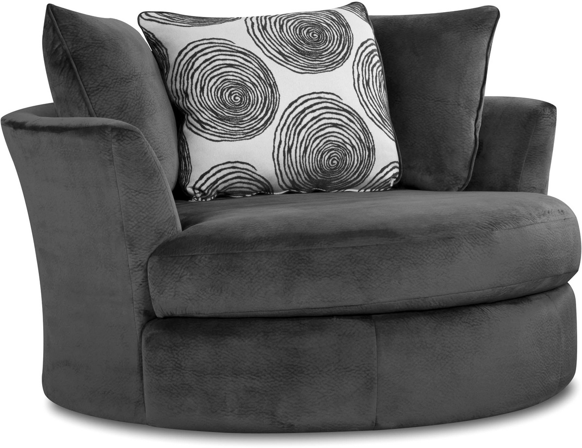 Chelsea Home Rayna Swivel Chair Groovy Smoke