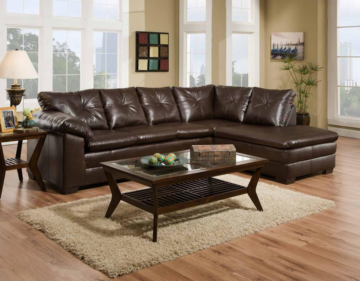 Chelsea Home Rho Sectional Cowboy Brown