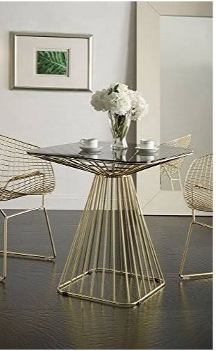 Furniture | Glass | Table | Dine | Gold