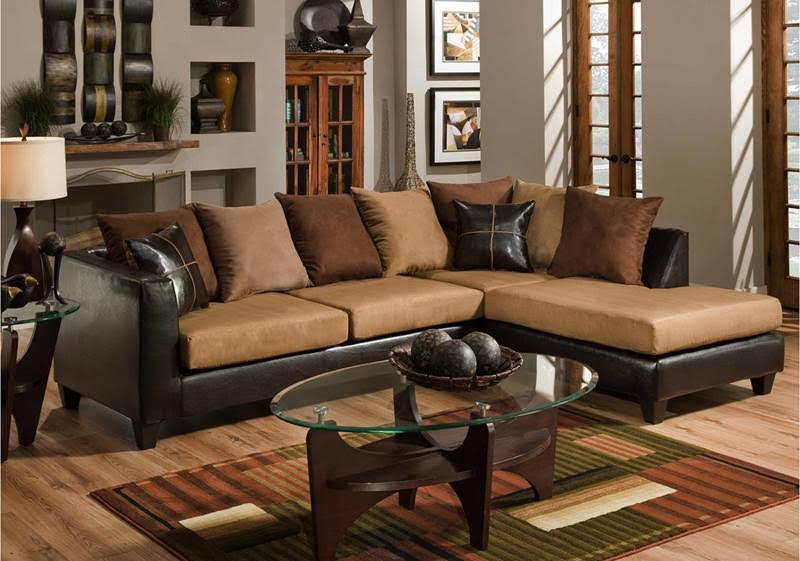 Flash Chocolate Microfiber Sectional