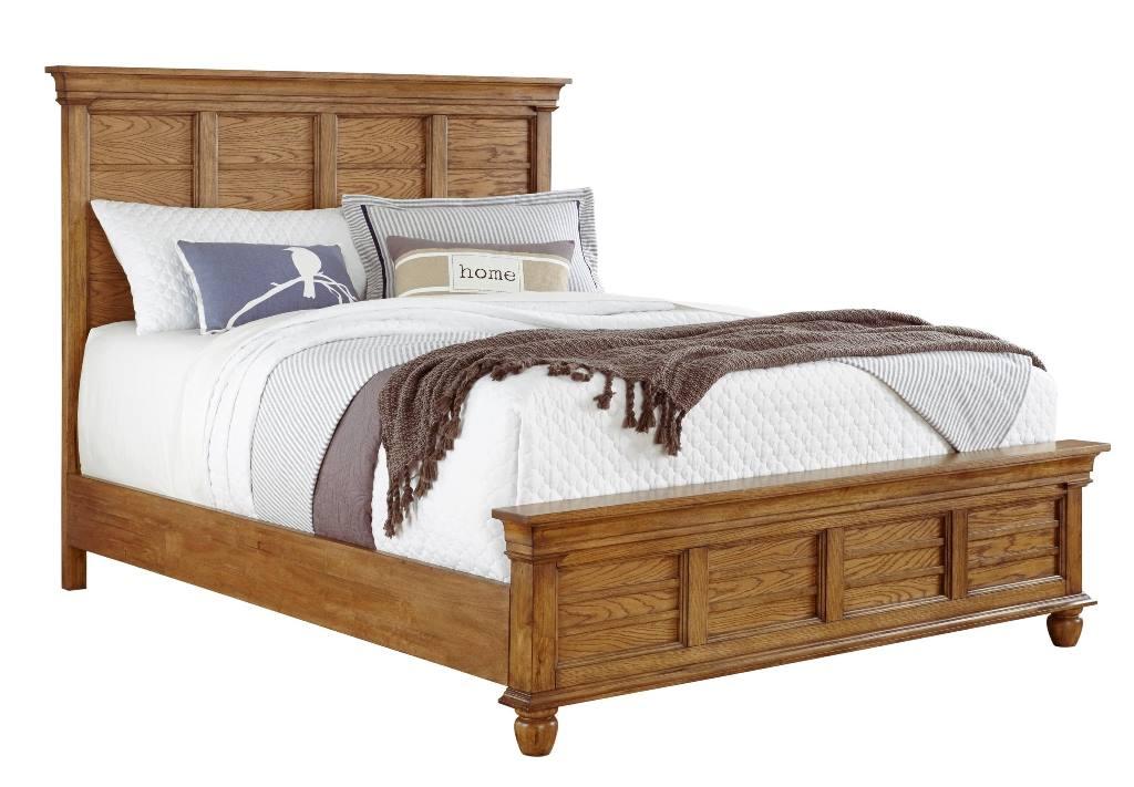 Progressive Riverwalk Complete Queen Mantle Bed Aged Oak