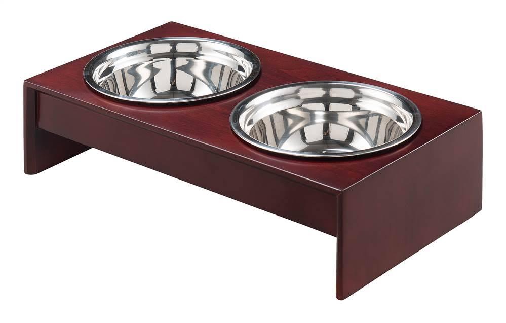 "Rocky Wooden Pet feeder, 4"" H - Elegant Home Fashions PET-920"