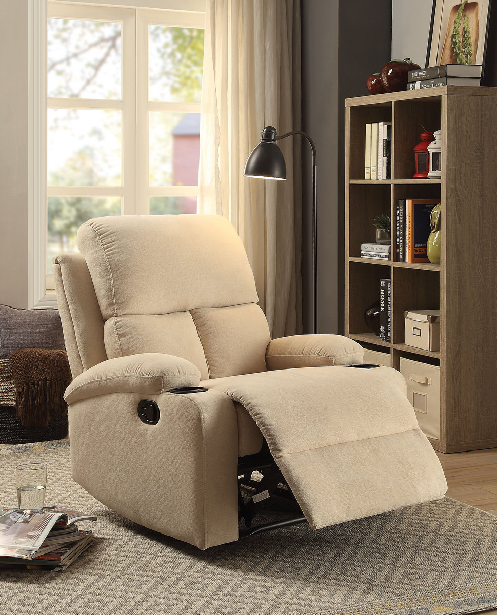 Rosia Recliner in Beige Linen Acme Furniture 59551