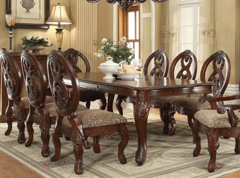 Acme Rovledo Dining Table Leg Cherry