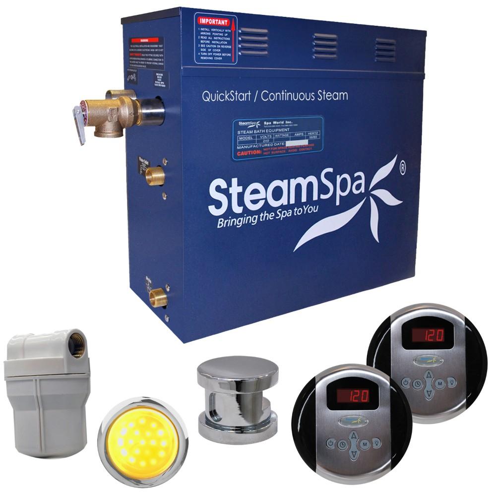 Steamspa Royal Steam Bath Generator Package Brushed Nickel