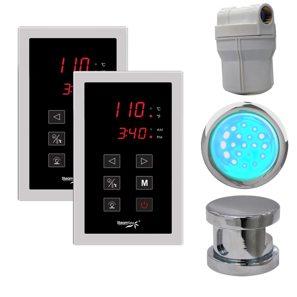 Steamspa Royal Touch Panel Control Kit Chrome