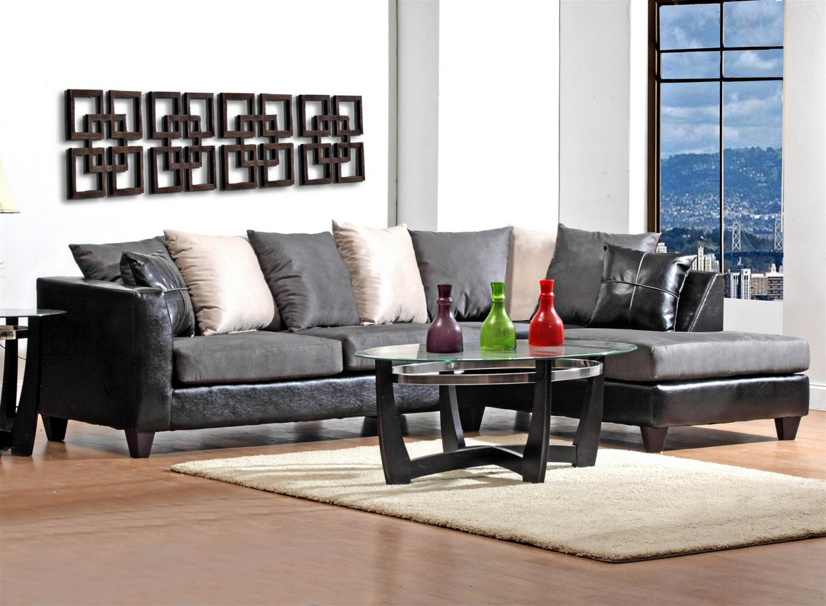 Chelsea Home Sailor Sectional Black Graphite