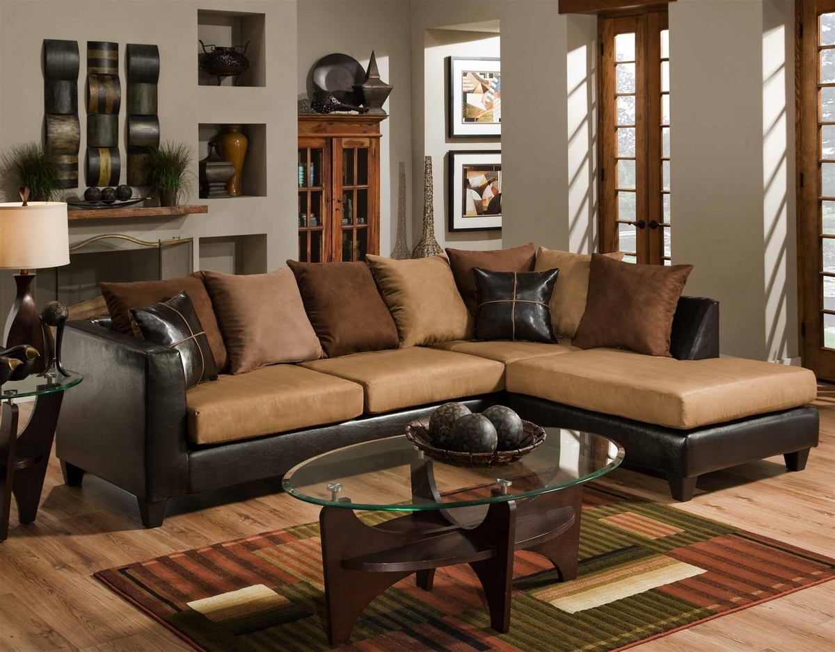 Chelsea Home Sailor Sectional Chocolate Camel