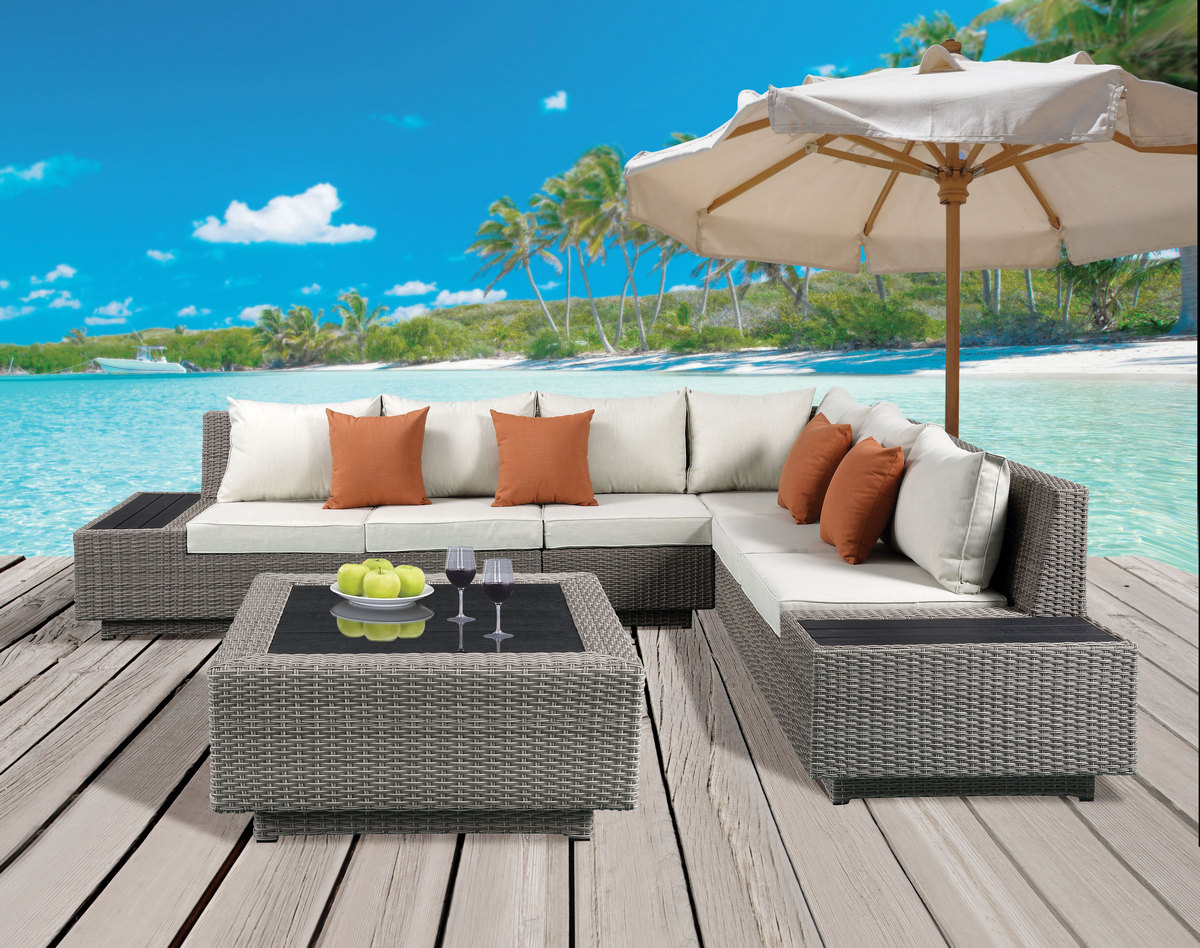 Acme Patio Sectional Cocktail Table