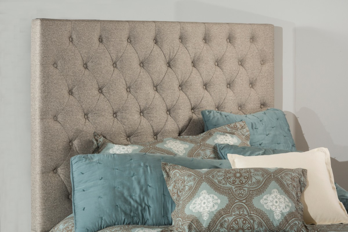Hillsdale King Headboard Natural Fabric Metal Frame