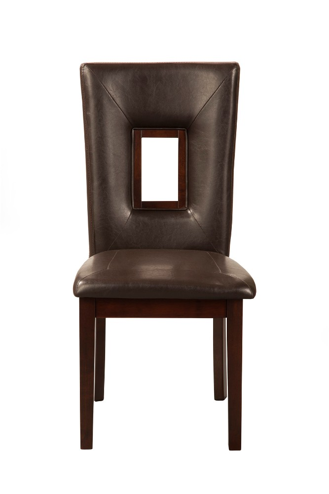 Segundo Faux Leather Side Chairs (Set Of 2) - Alpine Furniture 5213-C