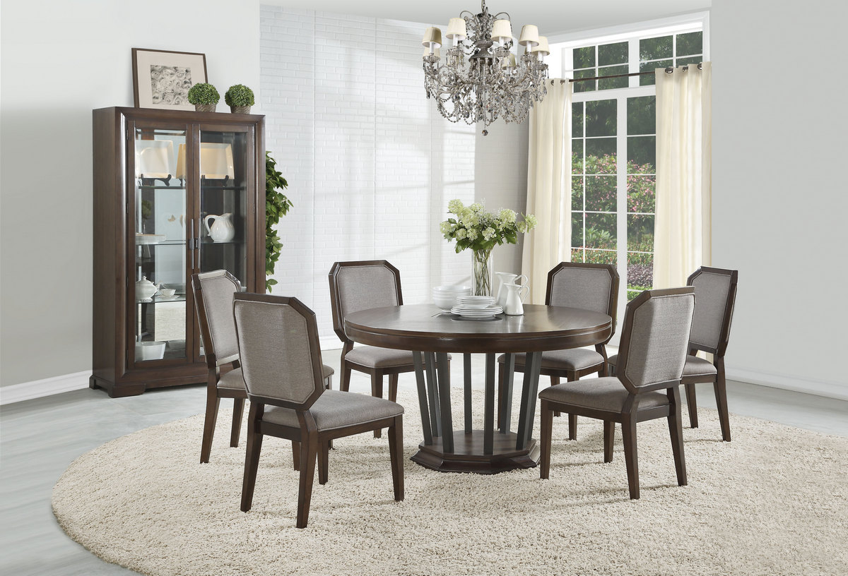 Acme Furniture Dining Table Single Pedestal Photo
