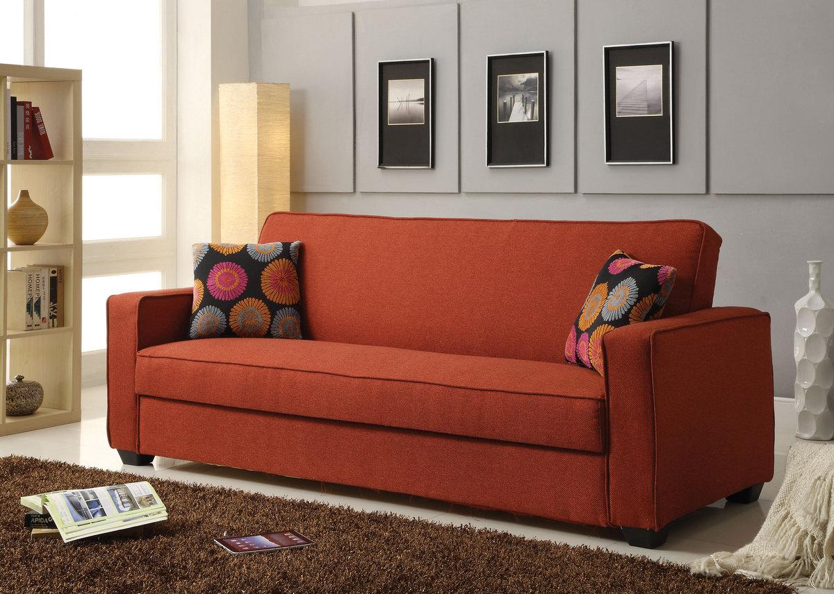 Acme Shani Adjustable Sofa Red Linen
