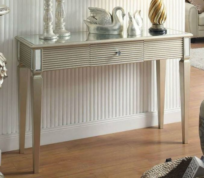 Acme Shannon Console Table Silver