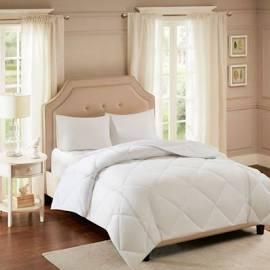 Smart Cool by Sleep Philosophy Smart Cool Microfiber Full/Queen Coolmax Down Alternative Comforter in White - Olliix BASI10-0495