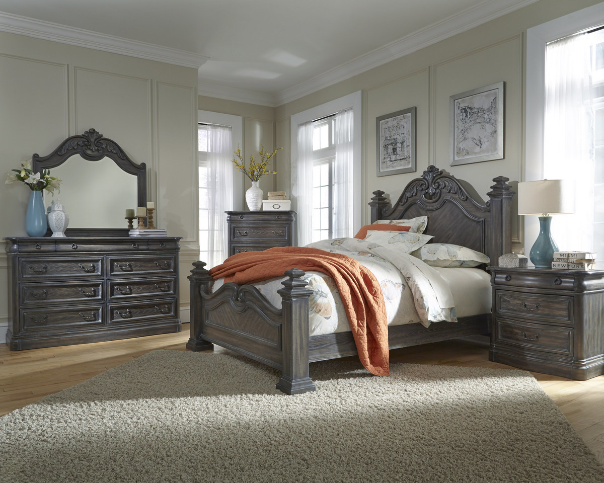 Progressive Terracina Marble Drawer Dresser Mirror Smokey Oak