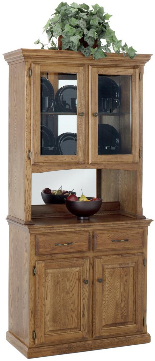 Chelsea Home Thomas Two Door Hutch Medium Oak