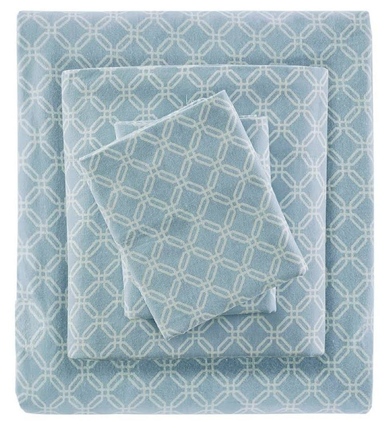 Flannel | Sleep | Sheet | North | Twin | Blue | Set