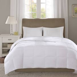 True North by Sleep Philosophy Level 1 Twin Down Comforter in White - Olliix TN10-0052