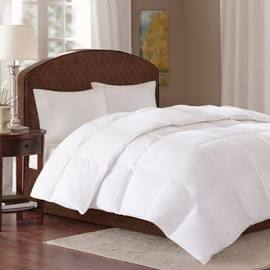 True North by Sleep Philosophy Level 3 Twin Down Comforter in White - Olliix TN10-0058