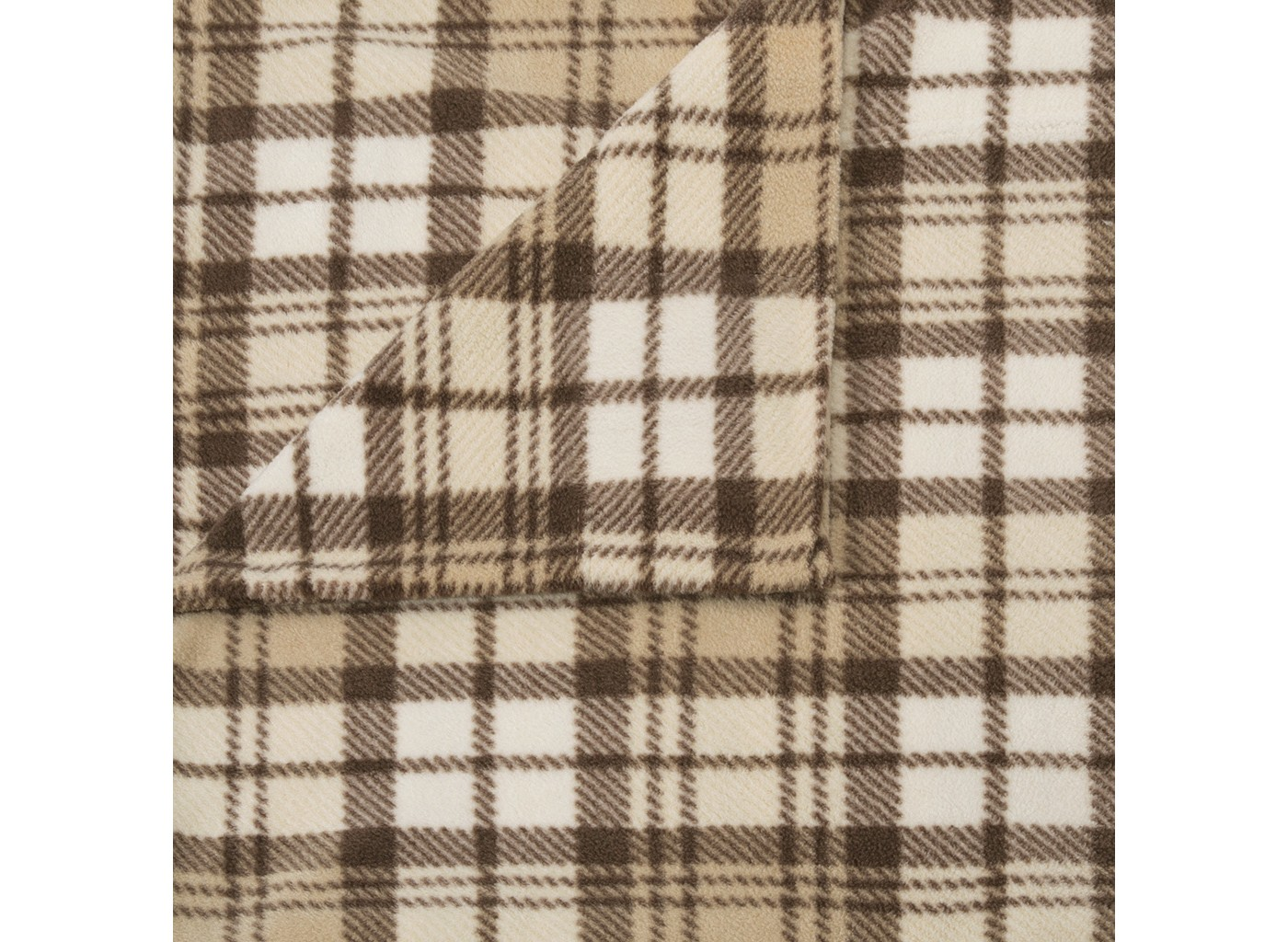 Fleece | Sleep | Sheet | North | Plaid | Twin | Tan | Set