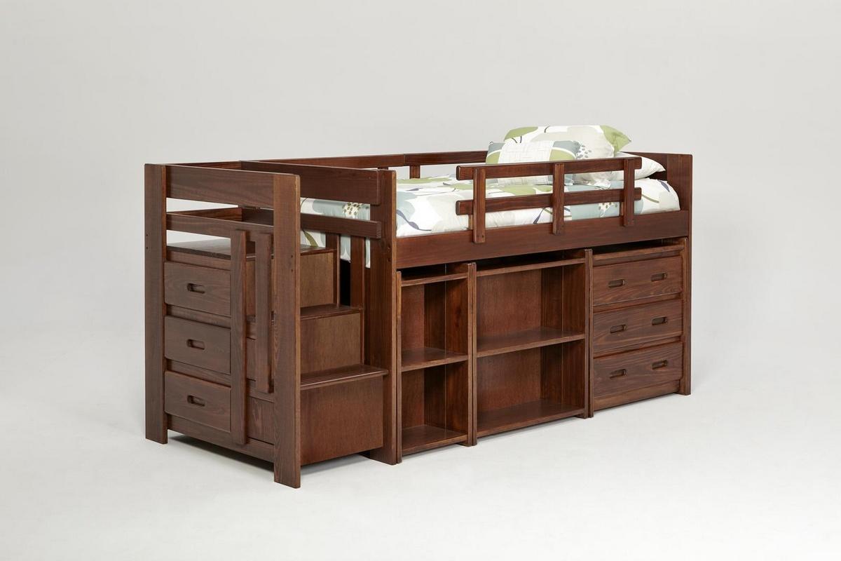Chelsea Home Furniture Twin Mini Bed Storage Dark Photo