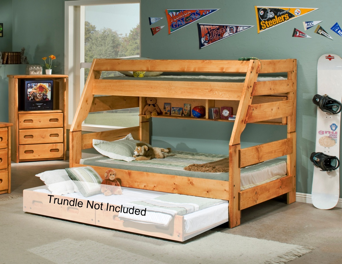 Chelsea Home Twin Over Full Bunk Bed Cinnamon