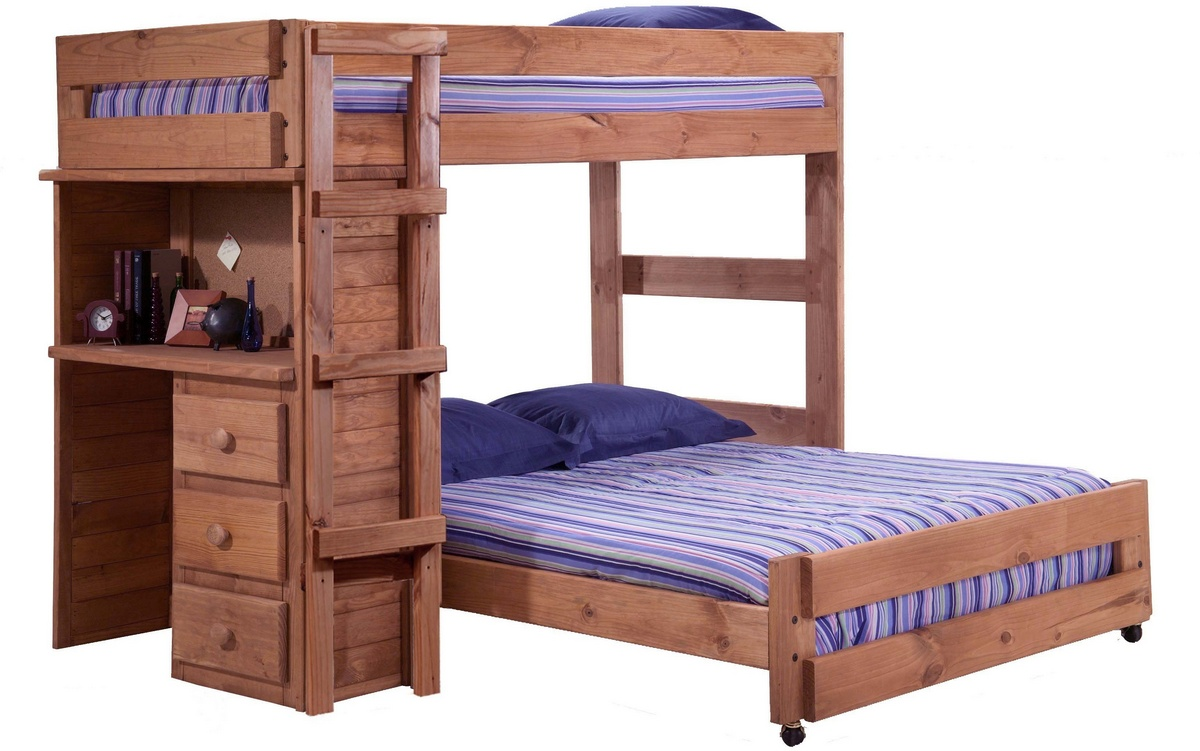 Chelsea Home Twin Bed Desk End Mahogany Stain