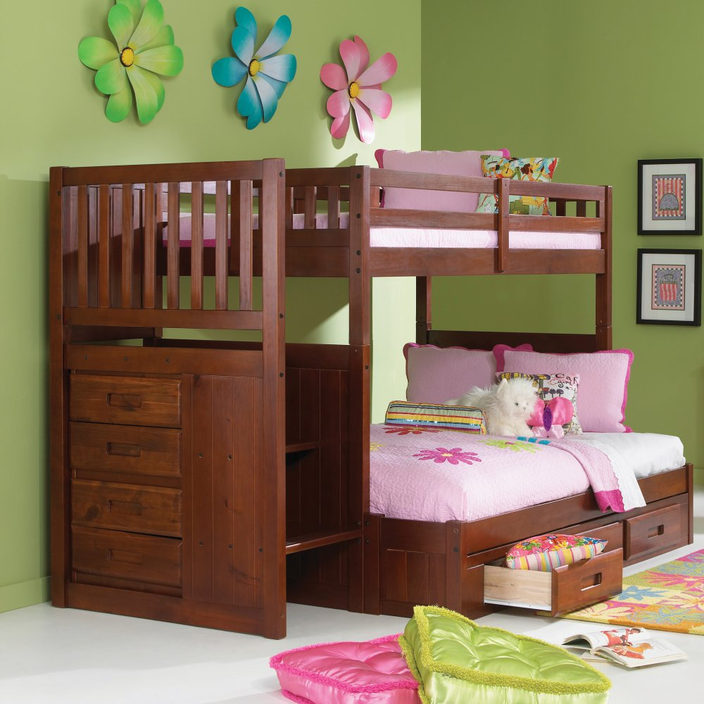 Donco Kids Twin Stair Bunkbed