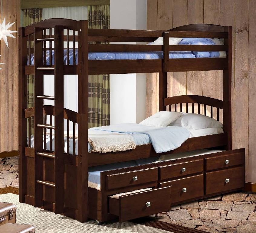 Donco Kids Twin Angelica Captains Trundle Bunkbed