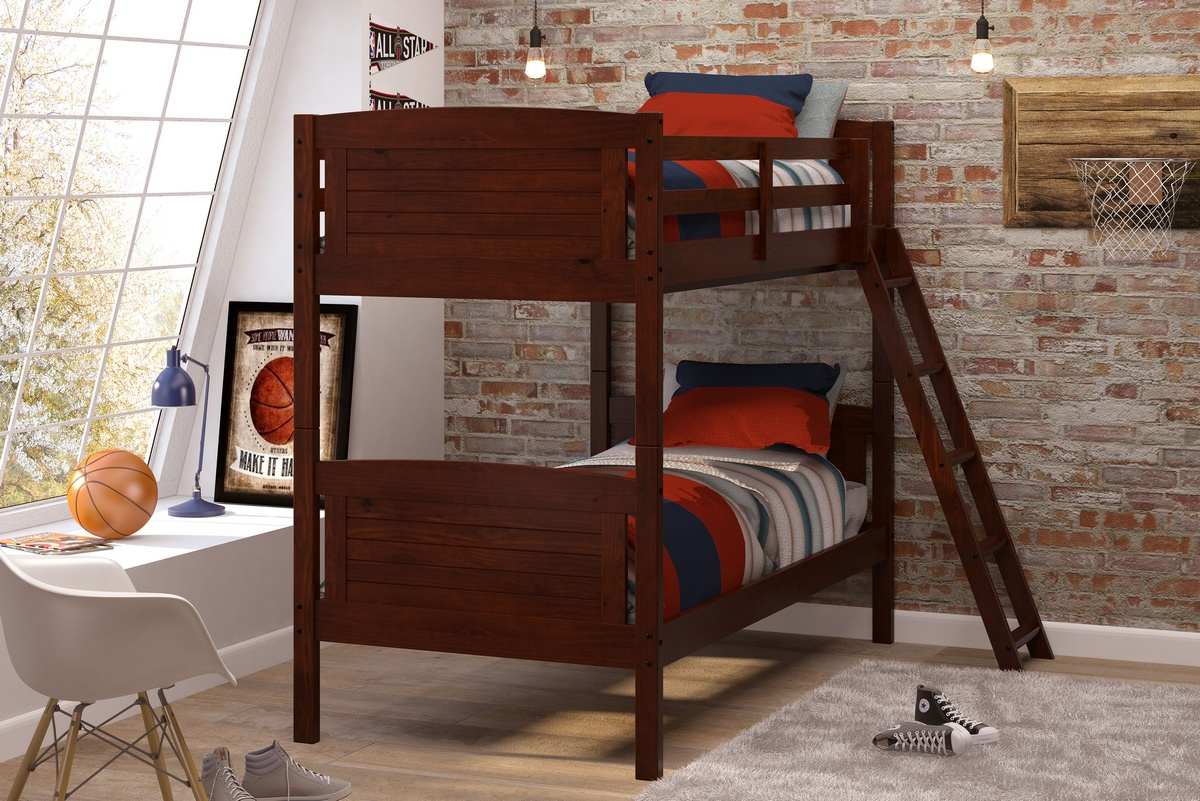 Chelsea Home Bunk Bed Twin Chocolate