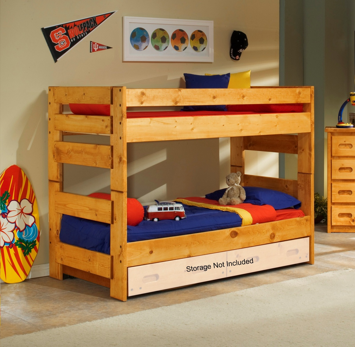 Chelsea Home Twin Bunk Bed Cinnamon