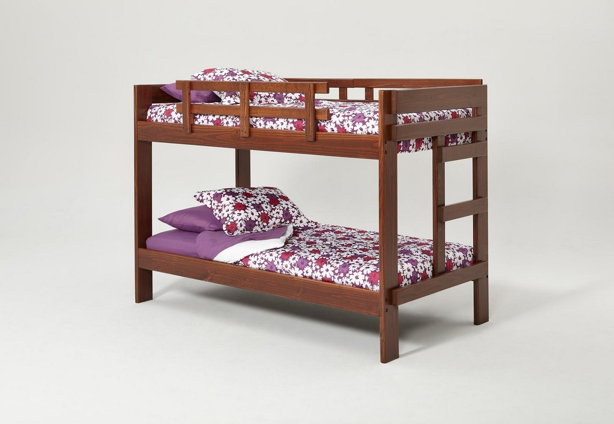 Chelsea Home Twin Over Twin Bunk Bed Dark