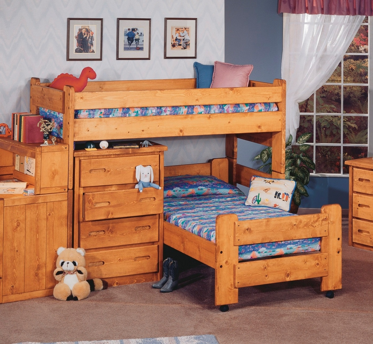 Chelsea Home Twin Over Twin Junior Loft Bed Cinnamon