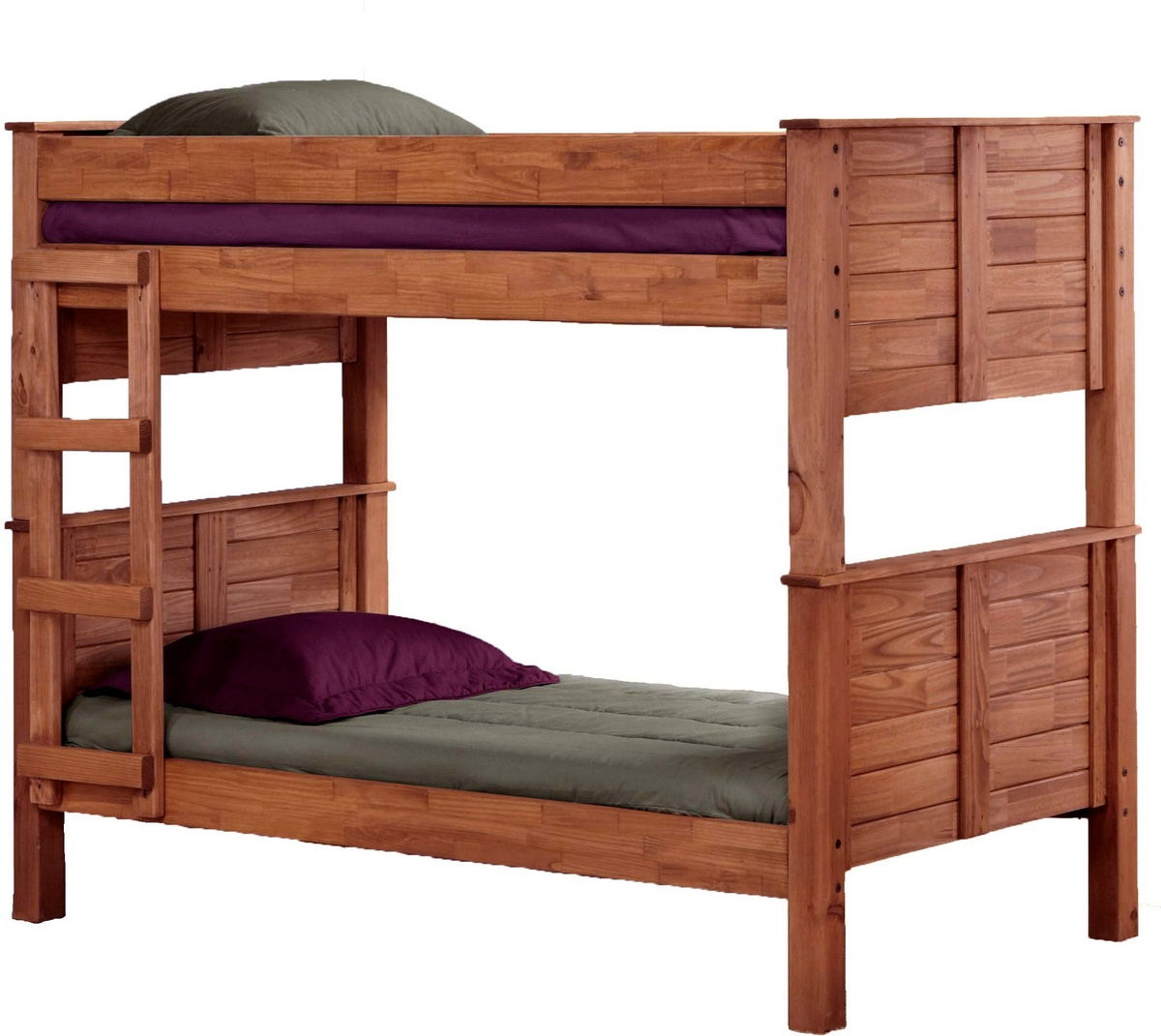 Chelsea Home Furniture Twin Post Bunk Bed Mahogany Stain Photo