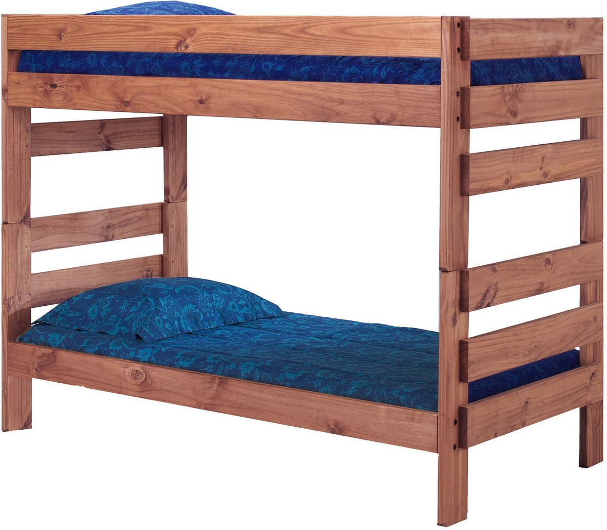 Chelsea Twin Stackable Bunk Bed Mahogany Stain Product Image