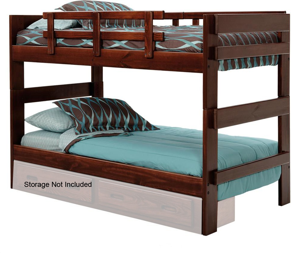 Chelsea Home Twin Over Twin Stacking Bunk Bed Dark