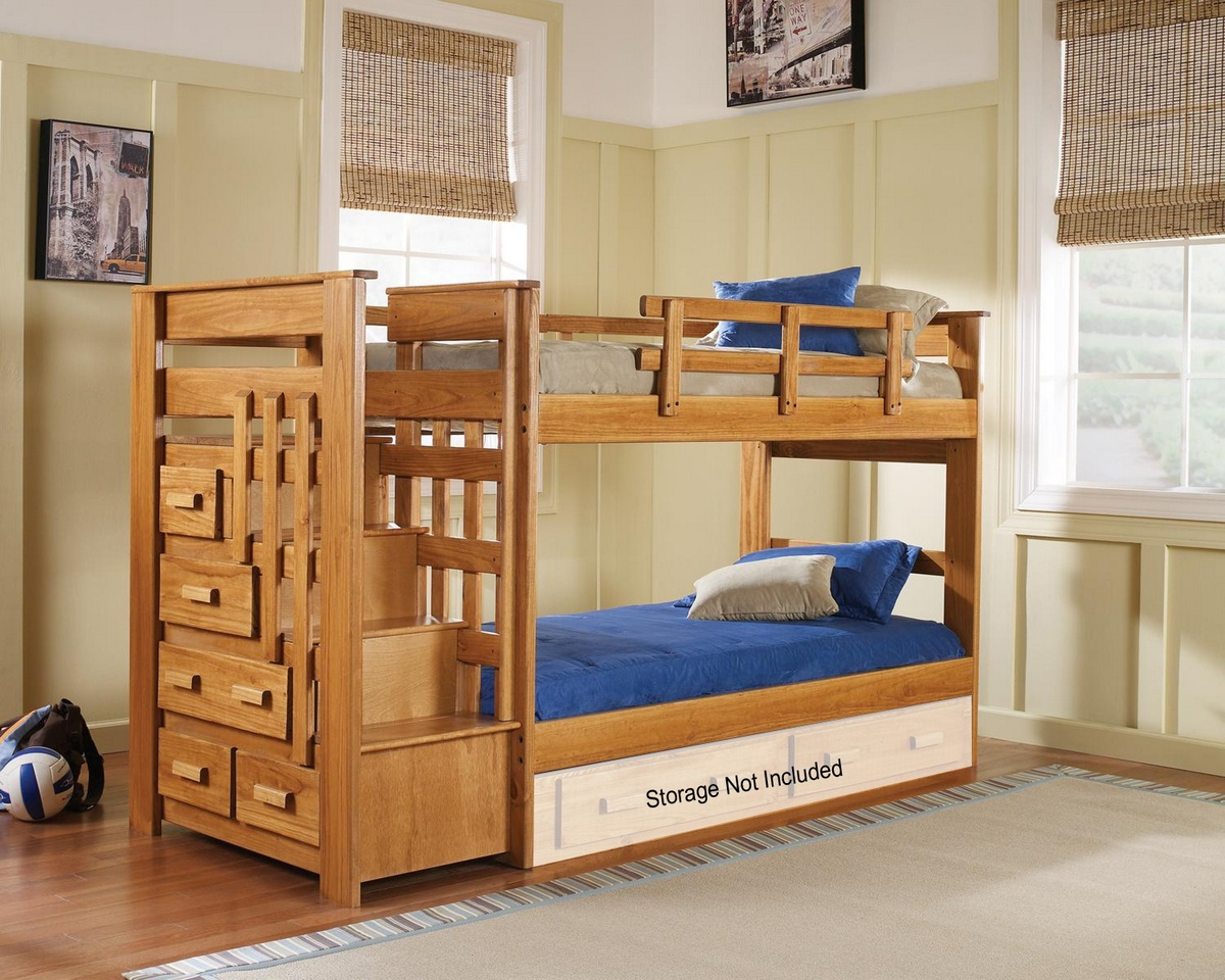 Chelsea Home Twin Stairwaybed Honey