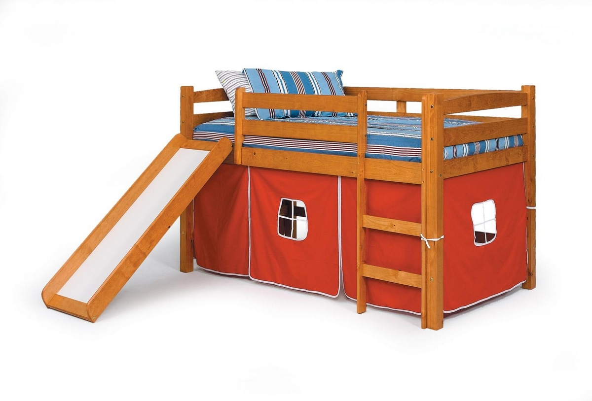 Chelsea Home Twin Tent Bed Slide Honey