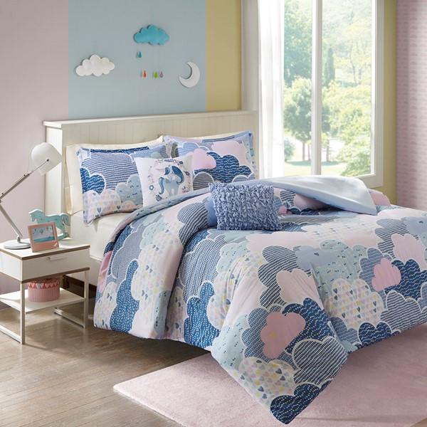 Urban Habitat Kids Cloud Full/Queen Cotton Duvet Cover Set in Blue - Olliix UHK12-0034