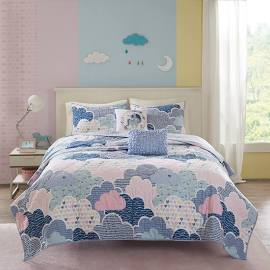 Urban Habitat Kids Cloud Full/Queen Coverlet Set in Blue - Olliix UHK13-0020