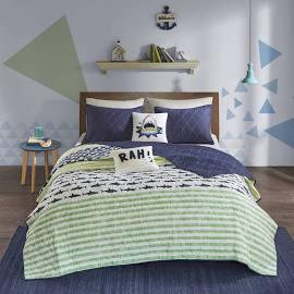 Urban Habitat Kids Finn Full/Queen Coverlet Set in Green / Navy - Olliix UHK13-0041