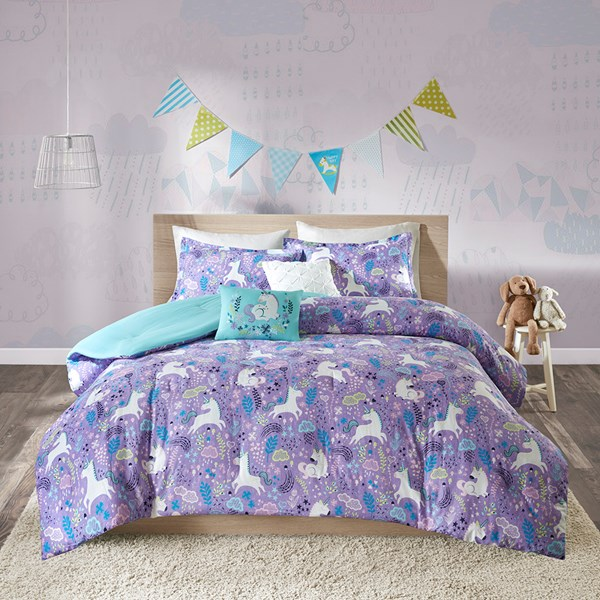 Urban Habitat Kids Lola Full/Queen Comforter Set in Purple - Olliix UHK10-0049