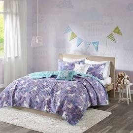 Urban Habitat Kids Lola Full/Queen Coverlet Set in Purple - Olliix UHK13-0053