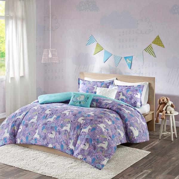 Urban Habitat Kids Lola Full/Queen Duvet Cover Set in Purple - Olliix UHK12-0051