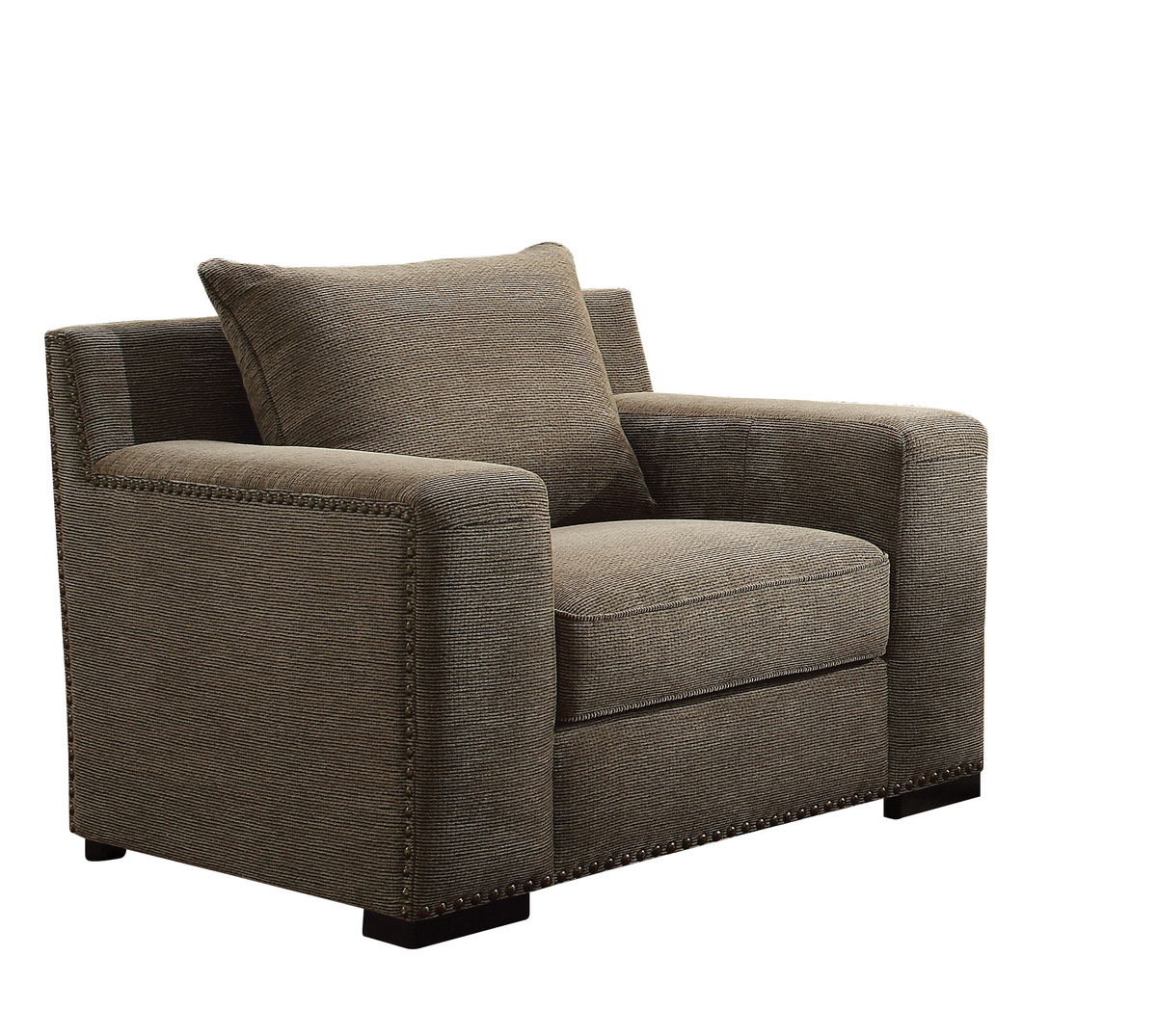 Acme Ushury Chair Gray Chenille