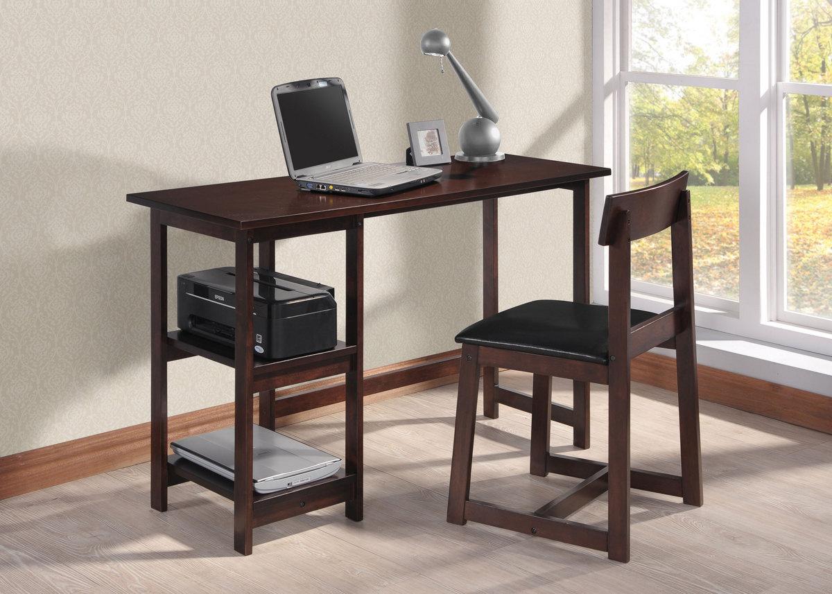 Vance 2pc Pk Desk Chair In Black Pu