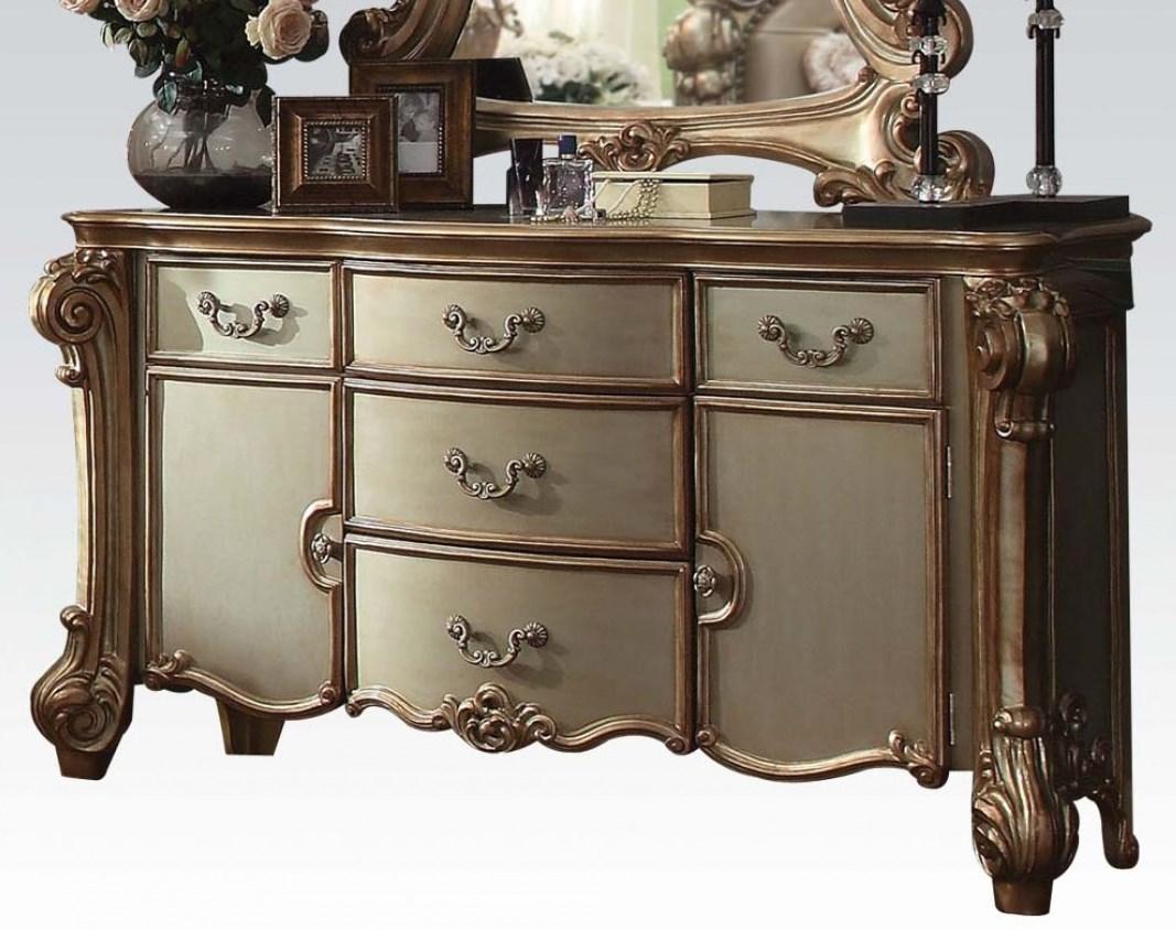 Acme Dresser Gold Patina Bone