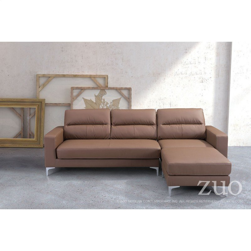 Zuo Versa Sectional Brown
